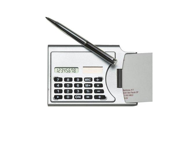 Calculadora Plástica com Porta Cartão