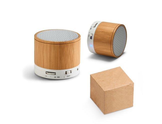 Caixa de Som  Fibra de Bambu